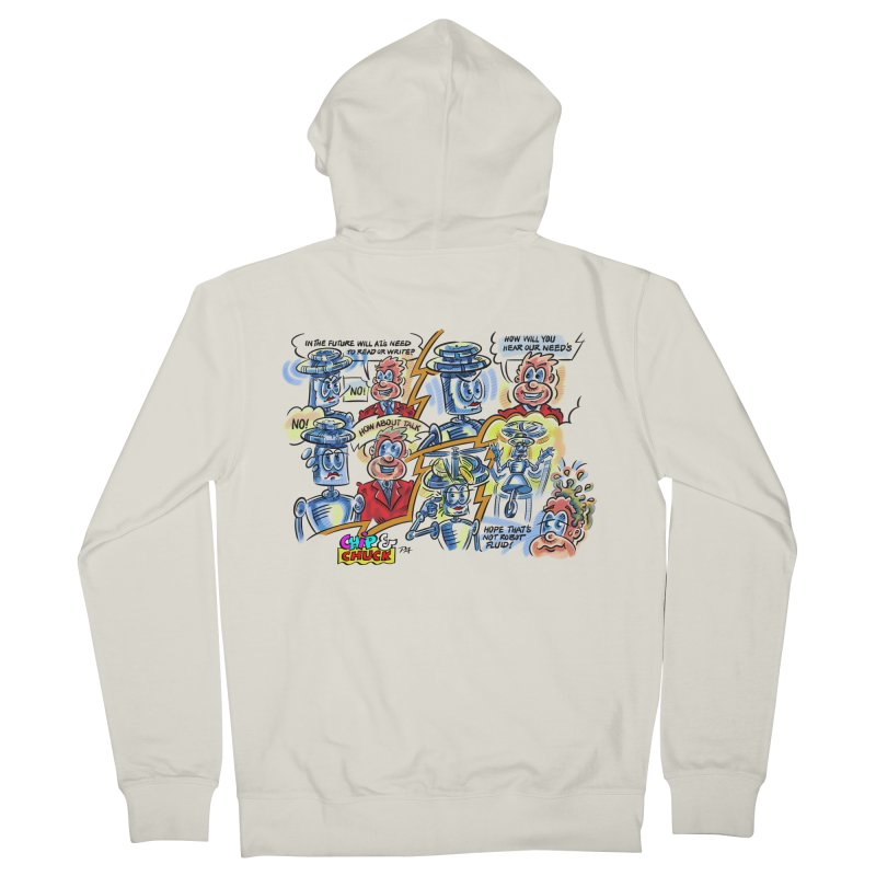CHIP fly and robot fluid Men's Zip-Up Hoody by thethinkforward's Artist Shop