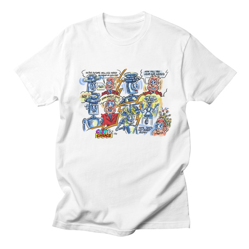 CHIP fly and robot fluid Men's T-Shirt by thethinkforward's Artist Shop