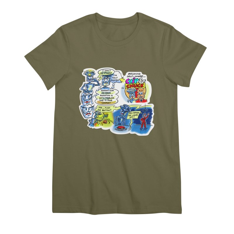 CHIP becomes aware Women's Premium T-Shirt by thethinkforward's Artist Shop