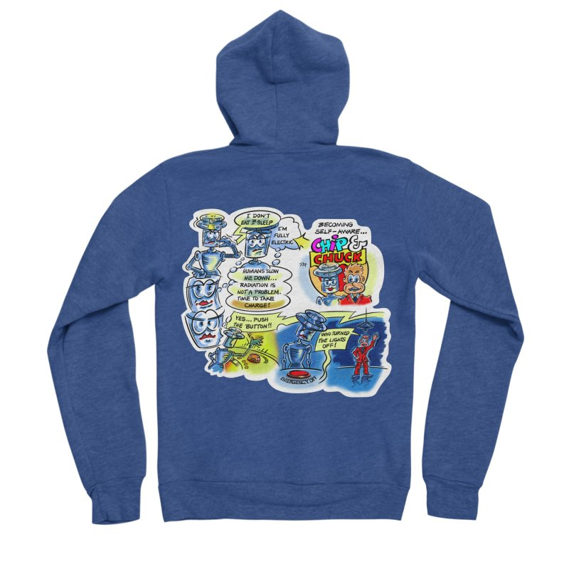 CHIP becomes aware Women's Sponge Fleece Zip-Up Hoody by thethinkforward's Artist Shop