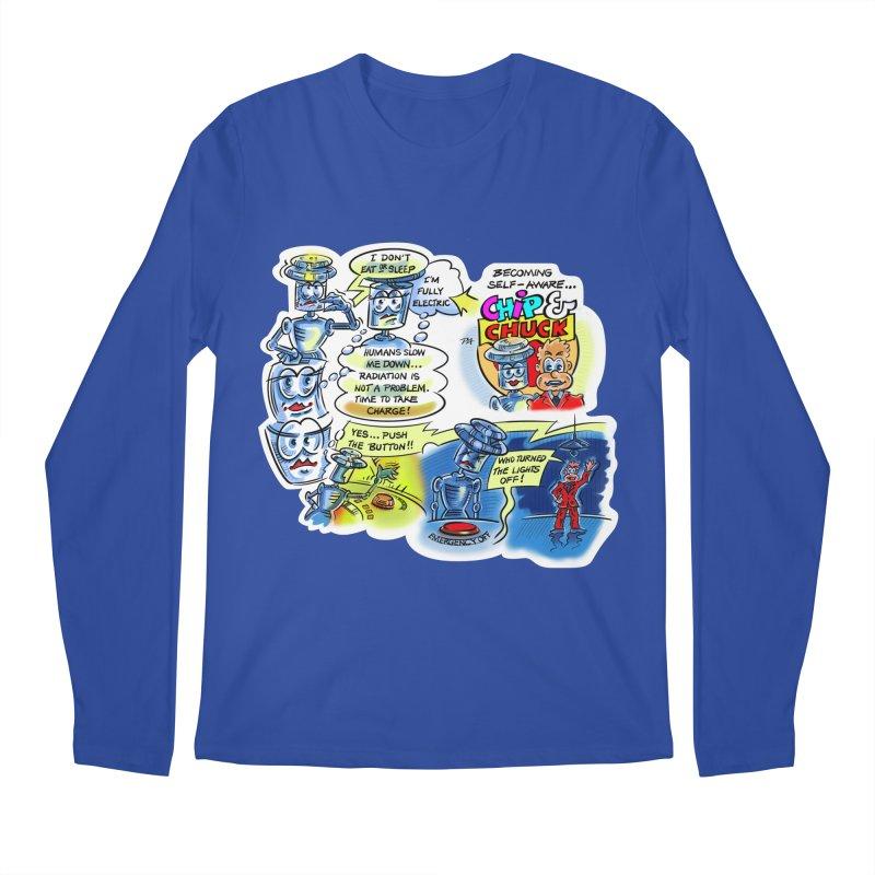 CHIP becomes aware Men's Regular Longsleeve T-Shirt by thethinkforward's Artist Shop
