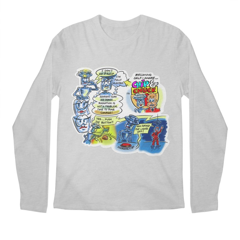 CHIP becomes aware Men's Regular Longsleeve T-Shirt by thethinkforward's Artist Shop