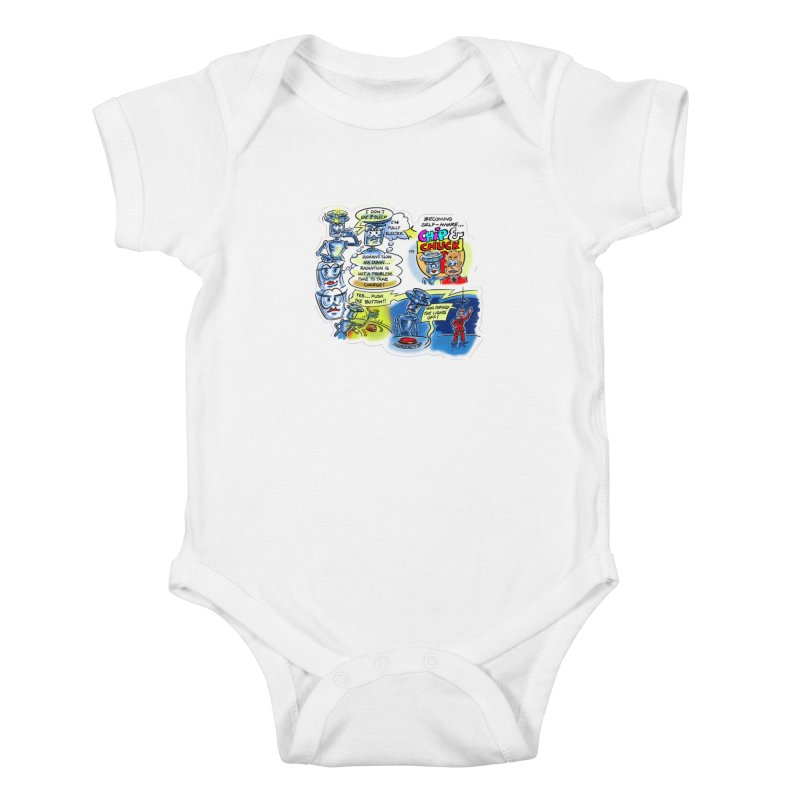 CHIP becomes aware Kids Baby Bodysuit by thethinkforward's Artist Shop
