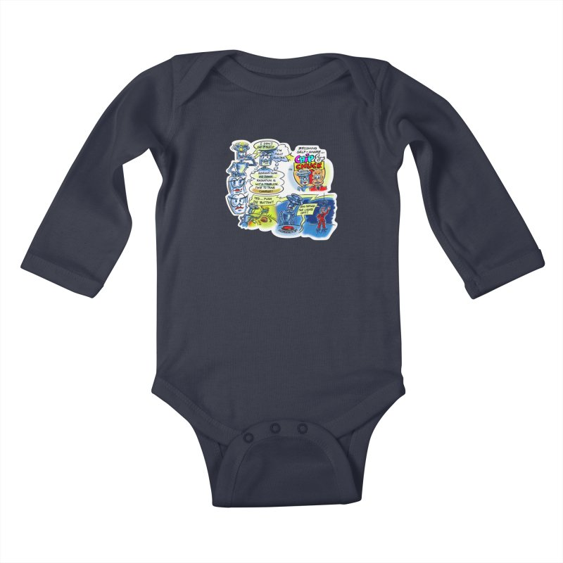 CHIP becomes aware Kids Baby Longsleeve Bodysuit by thethinkforward's Artist Shop
