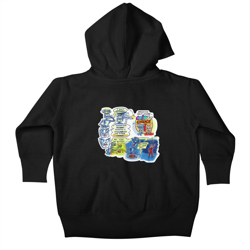 CHIP becomes aware Kids Baby Zip-Up Hoody by thethinkforward's Artist Shop