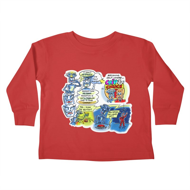 CHIP becomes aware Kids Toddler Longsleeve T-Shirt by thethinkforward's Artist Shop