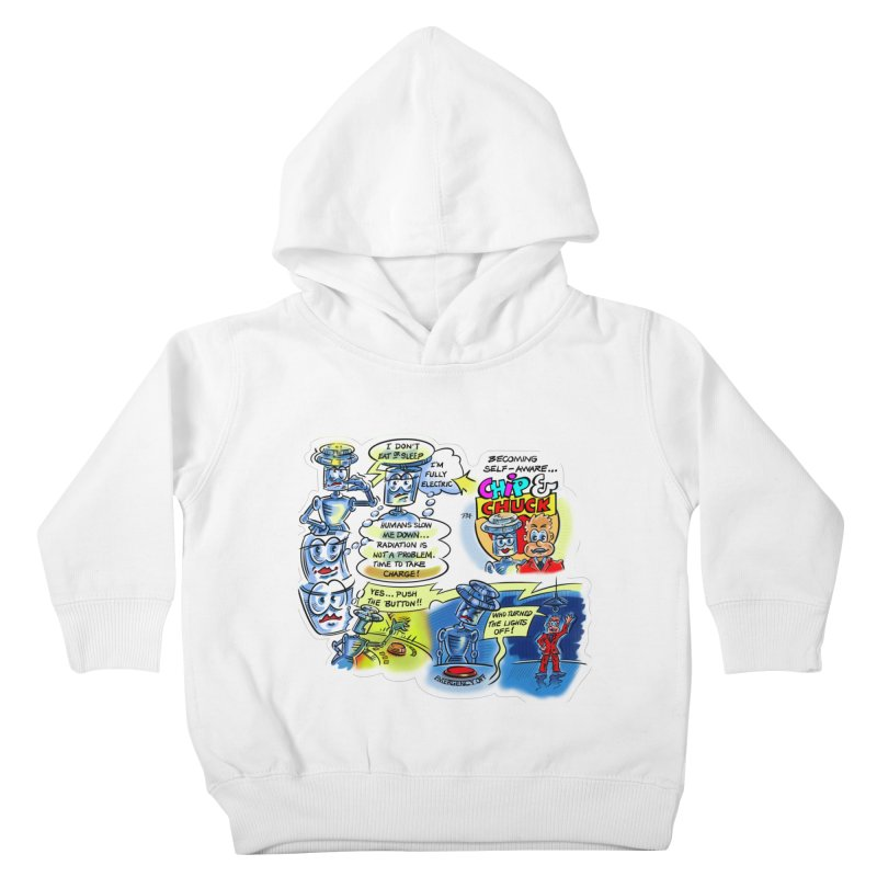 CHIP becomes aware Kids Toddler Pullover Hoody by thethinkforward's Artist Shop