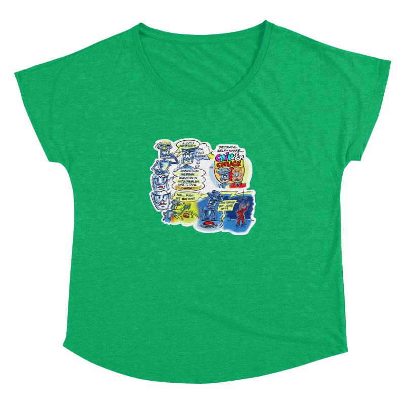 CHIP becomes aware Women's Dolman Scoop Neck by thethinkforward's Artist Shop