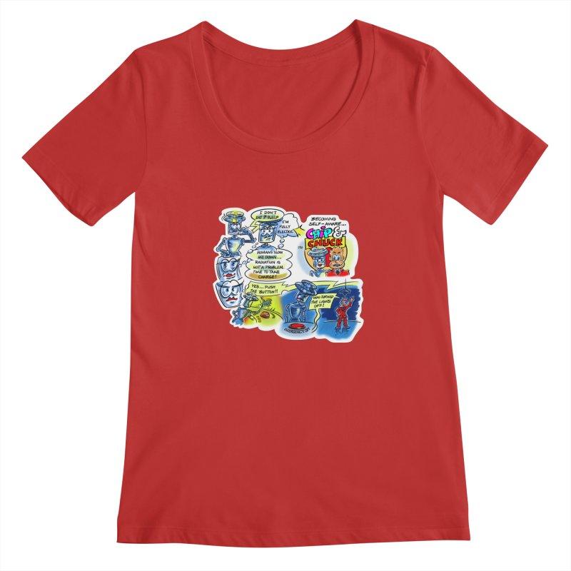 CHIP becomes aware Women's Regular Scoop Neck by thethinkforward's Artist Shop
