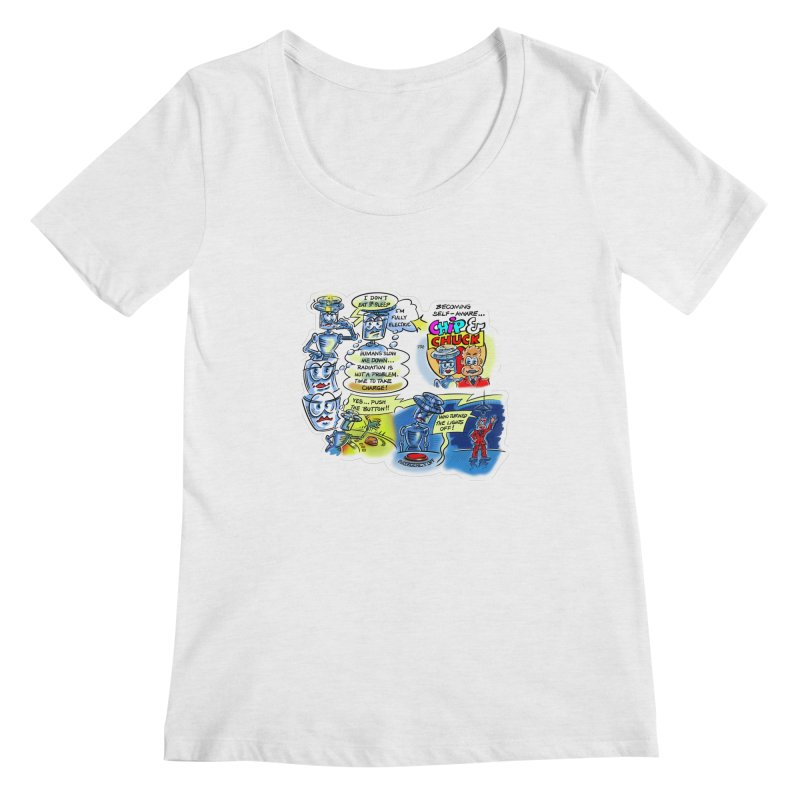 CHIP becomes aware Women's Regular Scoop Neck by thethinkforward's Artist Shop