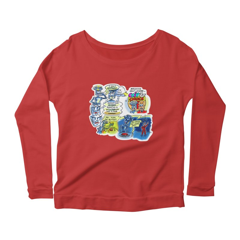 CHIP becomes aware Women's Scoop Neck Longsleeve T-Shirt by thethinkforward's Artist Shop