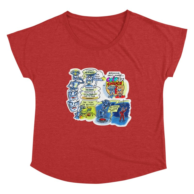 CHIP becomes aware Women's Scoop Neck by thethinkforward's Artist Shop