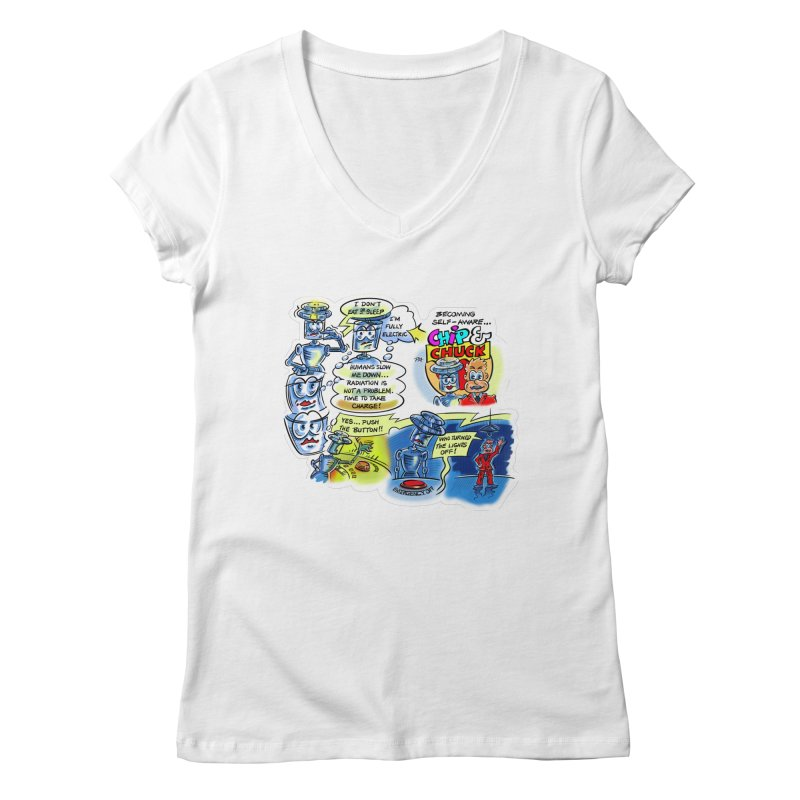 CHIP becomes aware Women's V-Neck by thethinkforward's Artist Shop