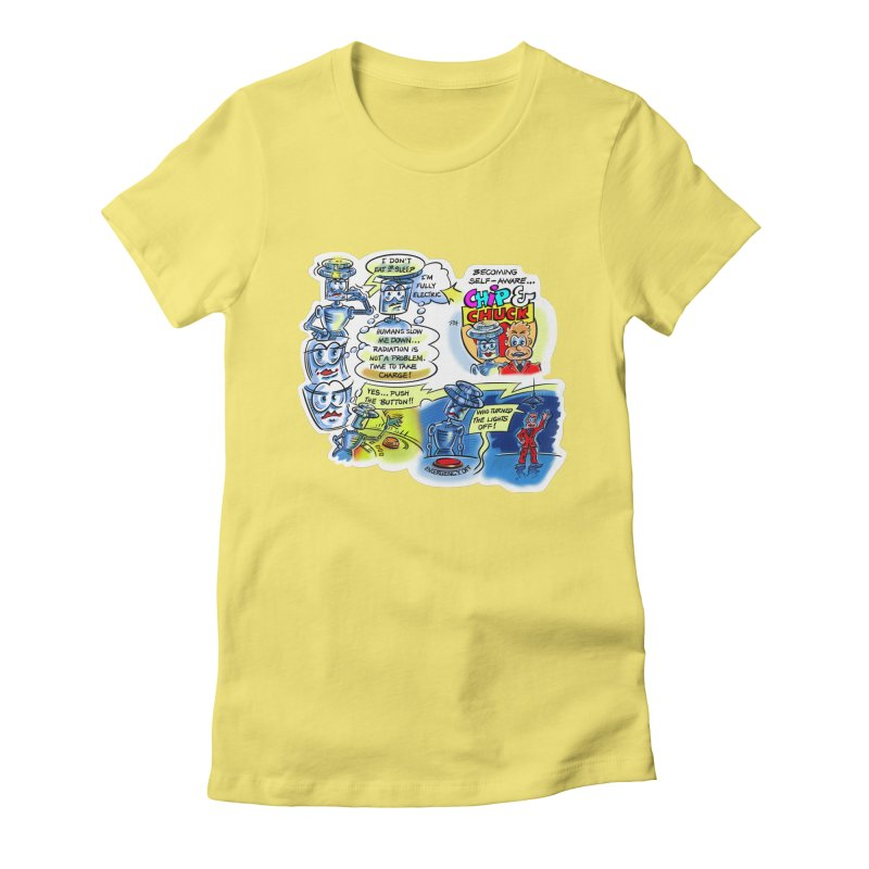 CHIP becomes aware Women's Fitted T-Shirt by thethinkforward's Artist Shop