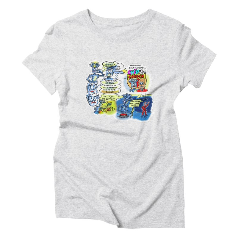 CHIP becomes aware Women's Triblend T-Shirt by thethinkforward's Artist Shop