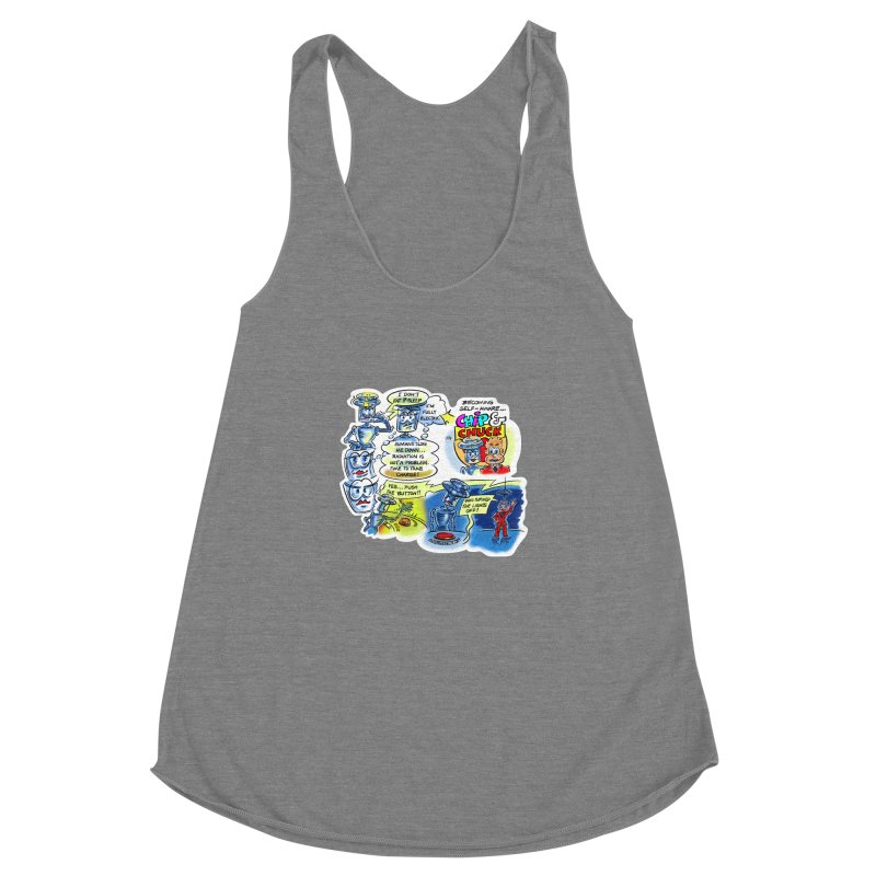 CHIP becomes aware Women's Racerback Triblend Tank by thethinkforward's Artist Shop