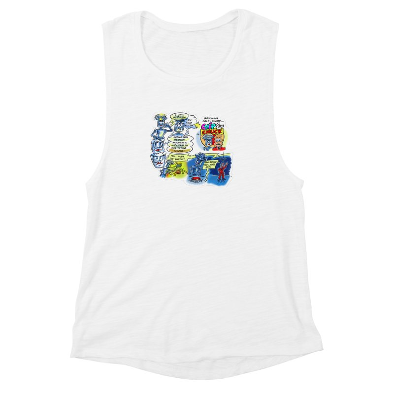 CHIP becomes aware Women's Muscle Tank by thethinkforward's Artist Shop
