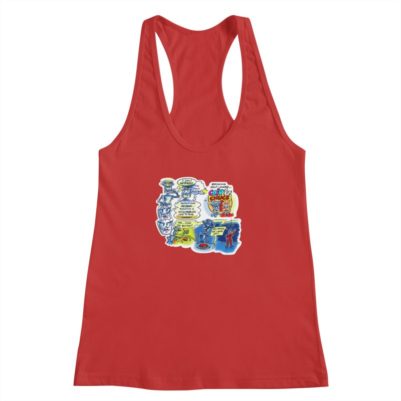 CHIP becomes aware Women's Racerback Tank by thethinkforward's Artist Shop