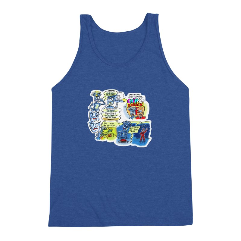 CHIP becomes aware Men's Triblend Tank by thethinkforward's Artist Shop