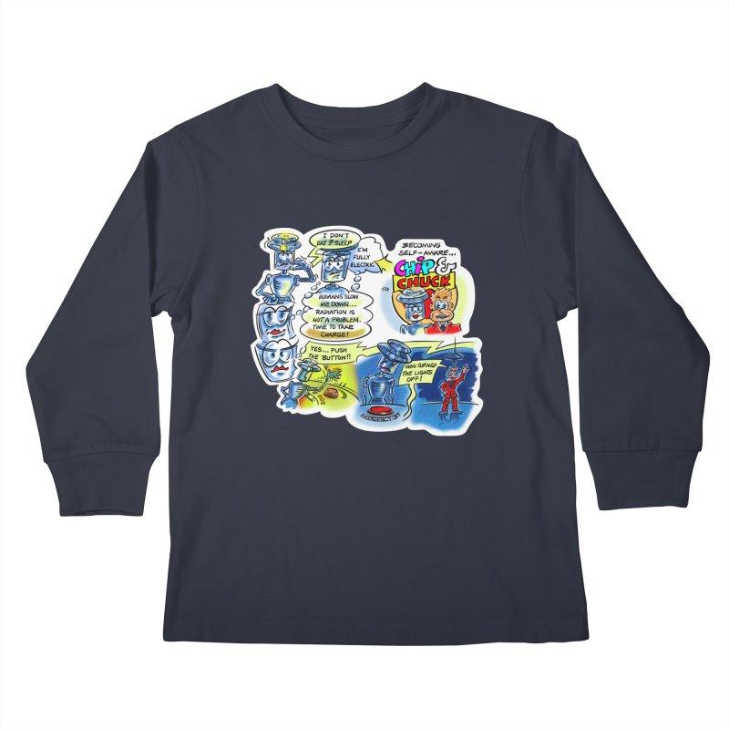 CHIP becomes aware Kids Longsleeve T-Shirt by thethinkforward's Artist Shop