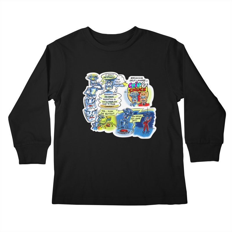 CHIP becomes aware Kids Longsleeve T-Shirt by thethinkforward's Artist Shop