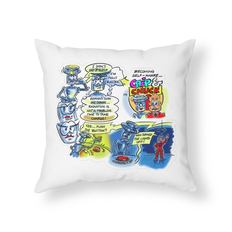 CHIP becomes aware Home Throw Pillow by thethinkforward's Artist Shop