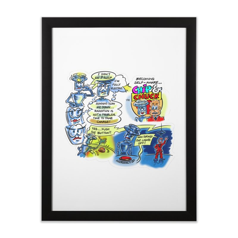CHIP becomes aware Home Framed Fine Art Print by thethinkforward's Artist Shop