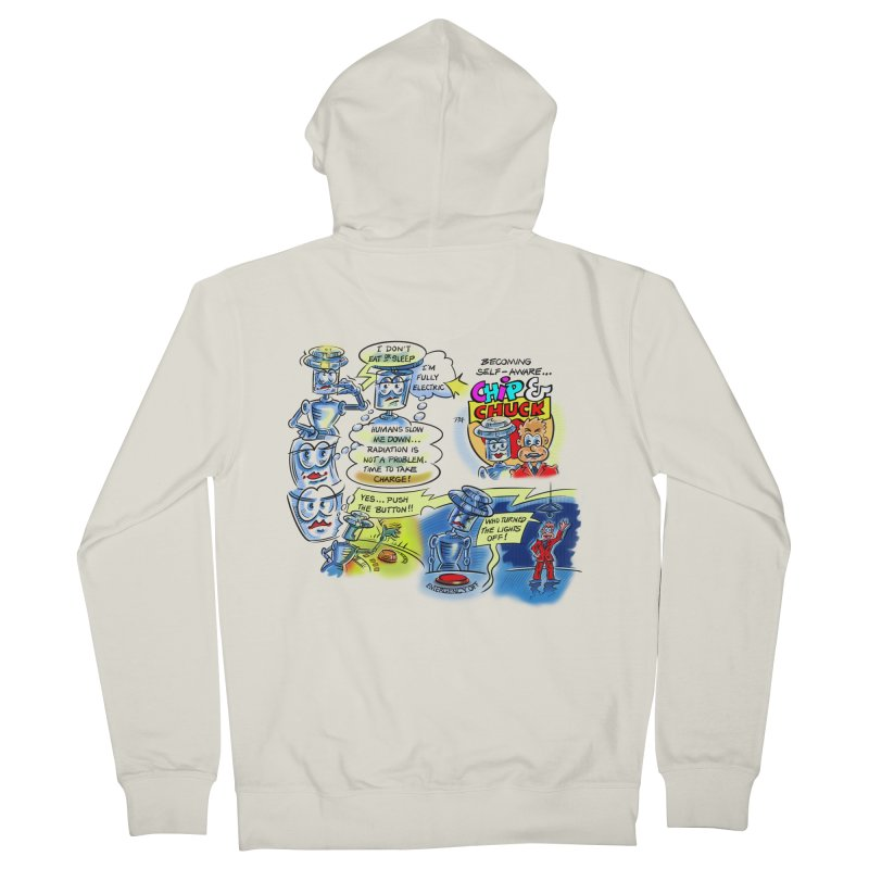 CHIP becomes aware Men's Zip-Up Hoody by thethinkforward's Artist Shop