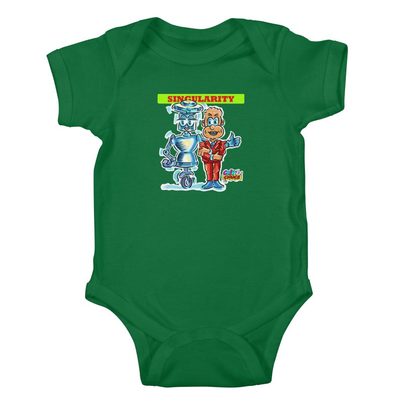 Singularity Kids Baby Bodysuit by thethinkforward's Artist Shop