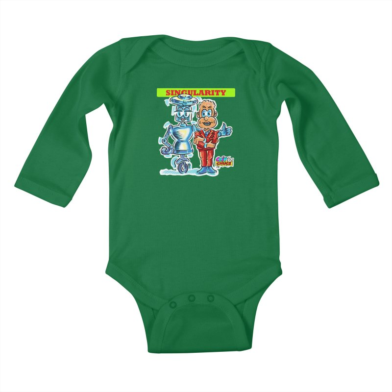 Singularity Kids Baby Longsleeve Bodysuit by thethinkforward's Artist Shop