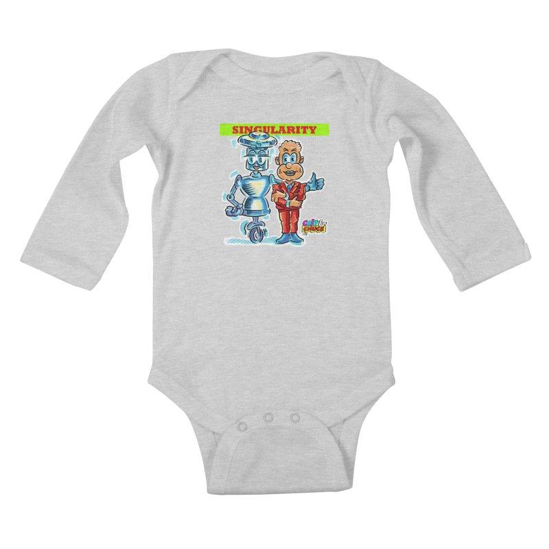 Singularity Kids Baby Longsleeve Bodysuit by thethinkforward's Artist Shop