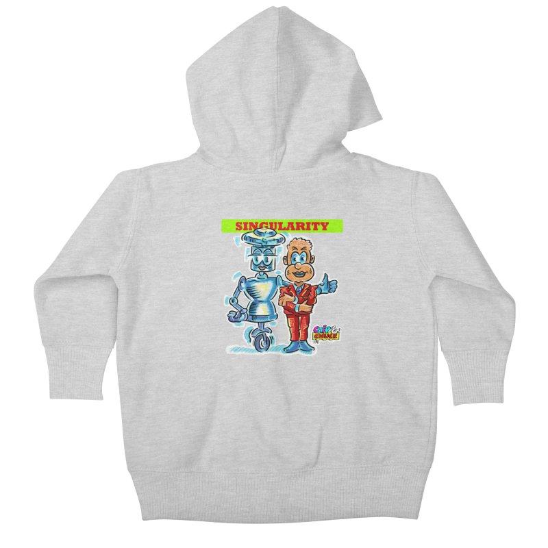 Singularity Kids Baby Zip-Up Hoody by thethinkforward's Artist Shop