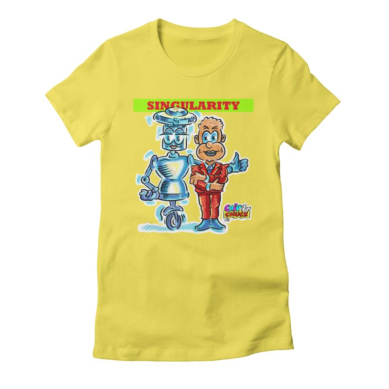Singularity Women's Fitted T-Shirt by thethinkforward's Artist Shop
