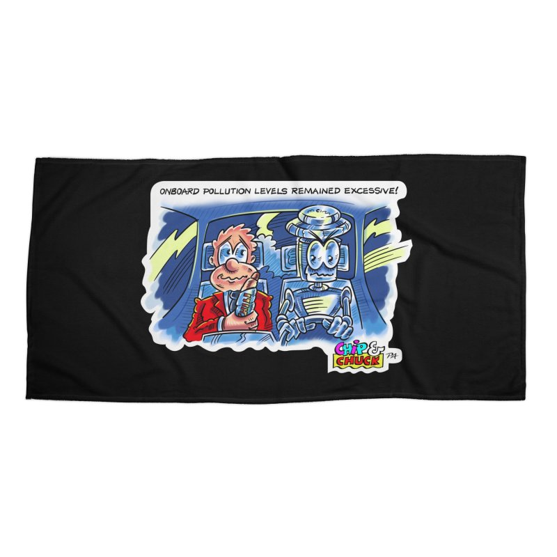 Chip & Chuck pollute Accessories Beach Towel by thethinkforward's Artist Shop