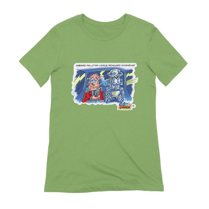 Chip & Chuck pollute Women's Extra Soft T-Shirt by thethinkforward's Artist Shop