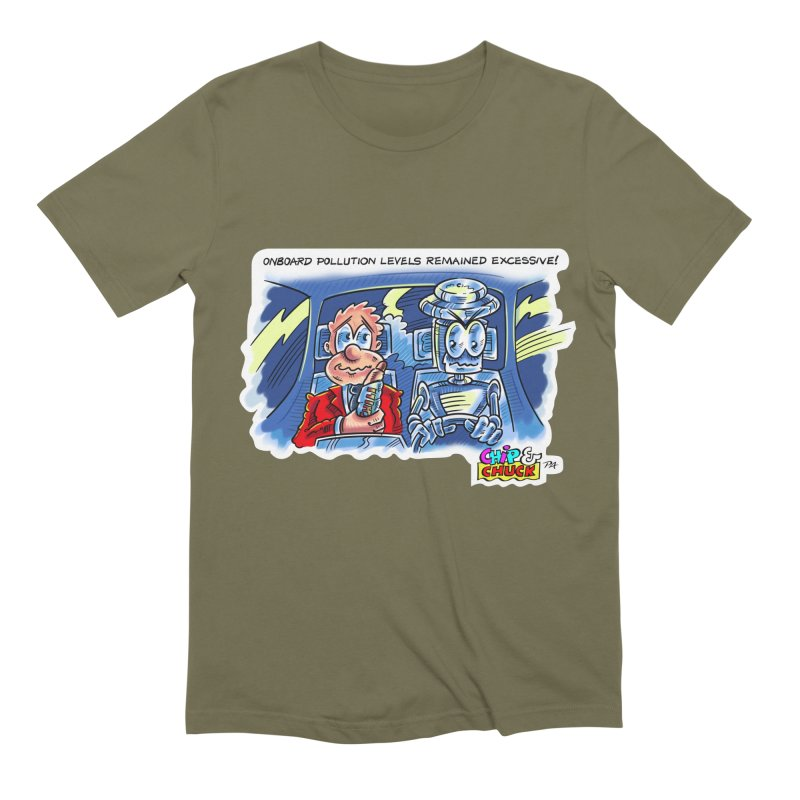 Chip & Chuck pollute Men's Extra Soft T-Shirt by thethinkforward's Artist Shop