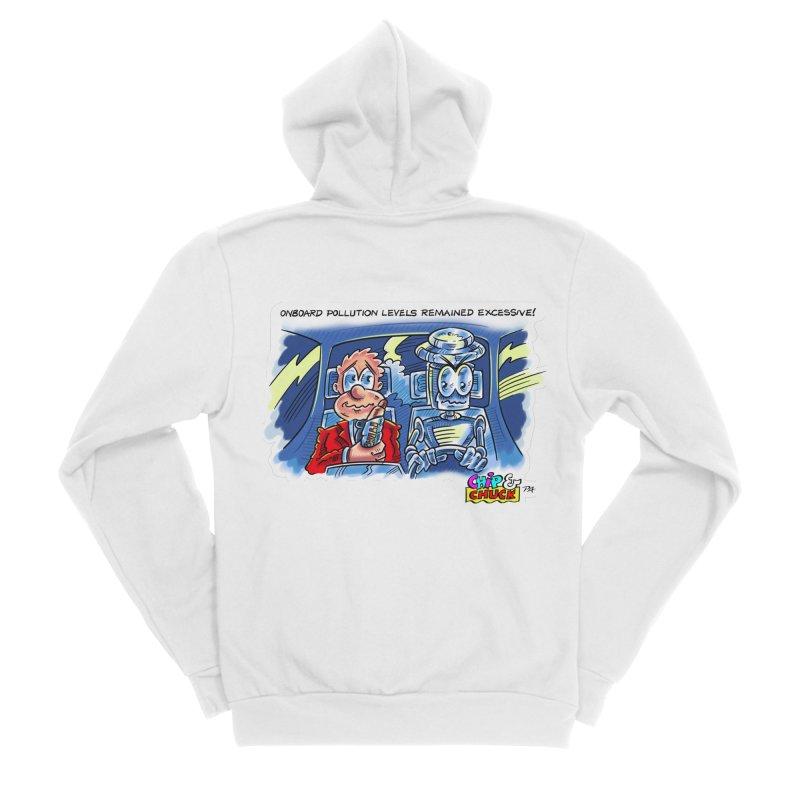 Chip & Chuck pollute Men's Sponge Fleece Zip-Up Hoody by thethinkforward's Artist Shop