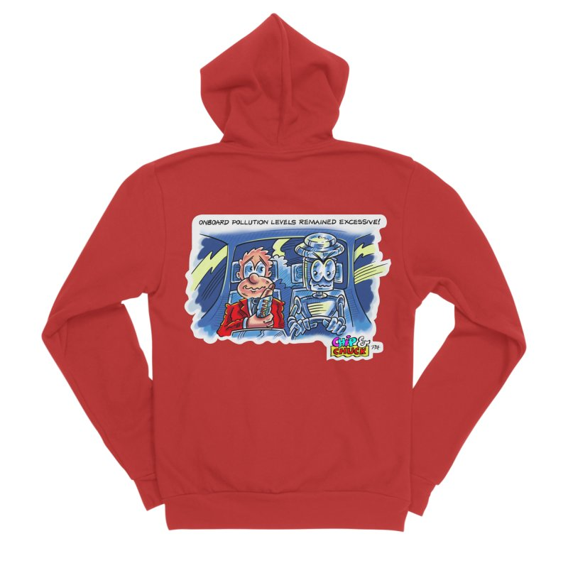 Chip & Chuck pollute Women's Sponge Fleece Zip-Up Hoody by thethinkforward's Artist Shop
