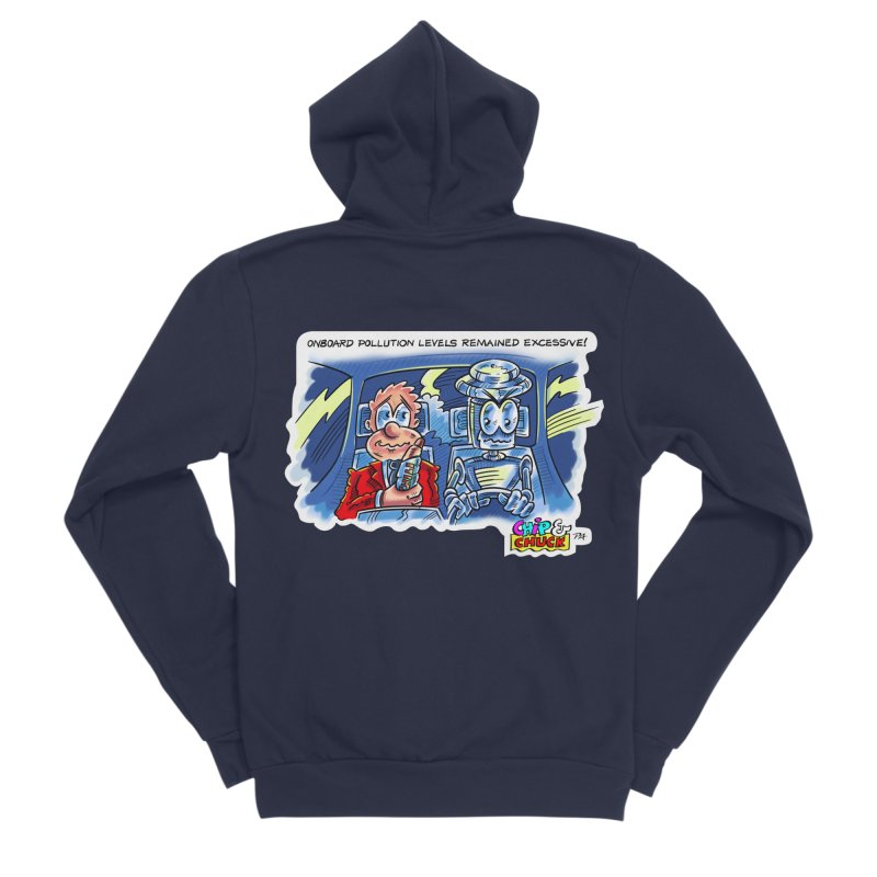 Chip & Chuck pollute Men's Sponge Fleece Zip-Up Hoody by thethinkforward's Artist Shop