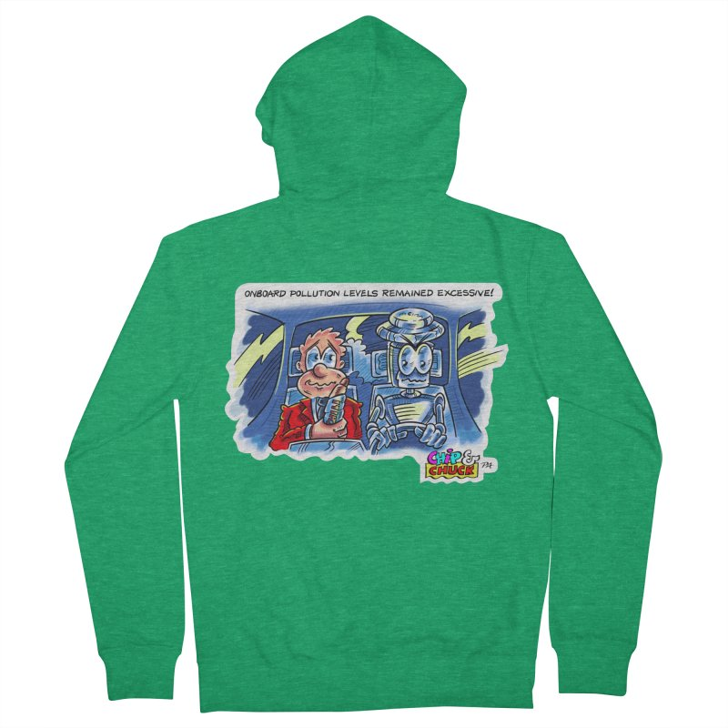 Chip & Chuck pollute Women's Zip-Up Hoody by thethinkforward's Artist Shop