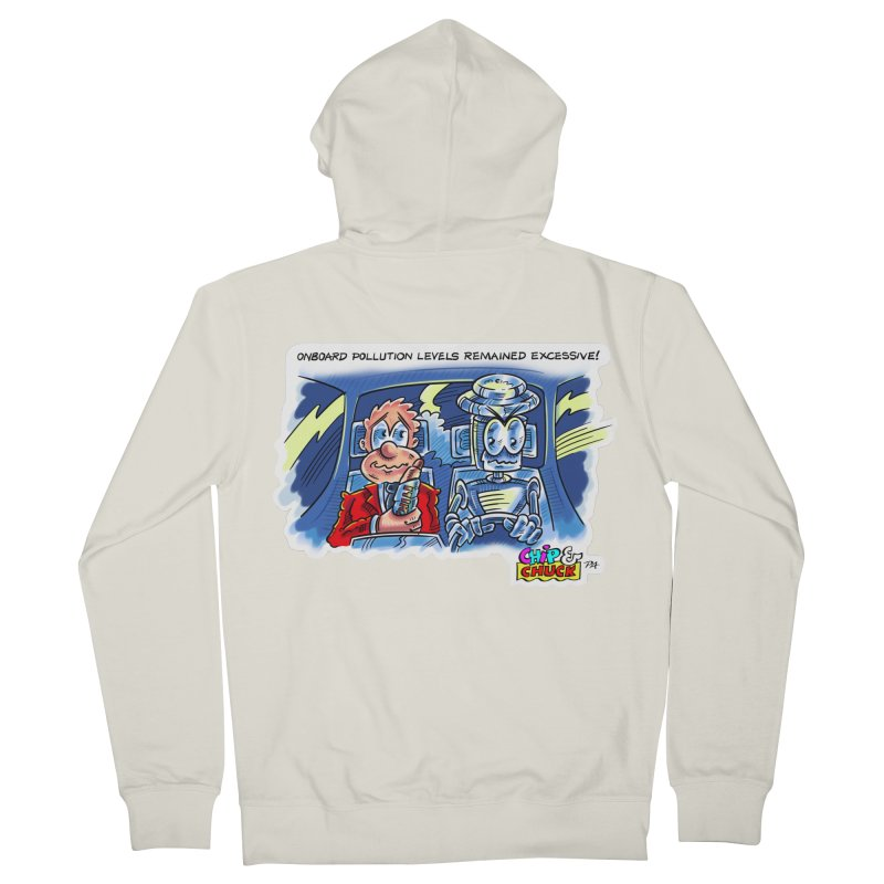 Chip & Chuck pollute Men's French Terry Zip-Up Hoody by thethinkforward's Artist Shop
