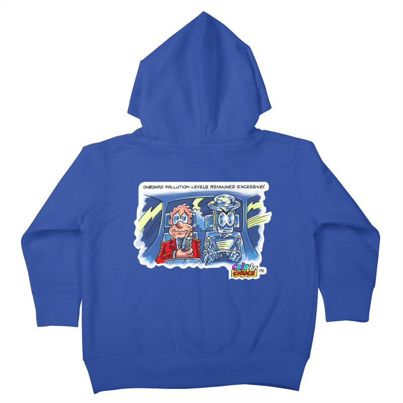 Chip & Chuck pollute Kids Toddler Zip-Up Hoody by thethinkforward's Artist Shop