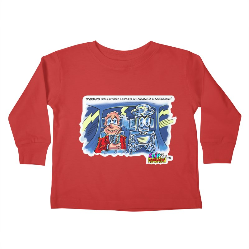 Chip & Chuck pollute Kids Toddler Longsleeve T-Shirt by thethinkforward's Artist Shop