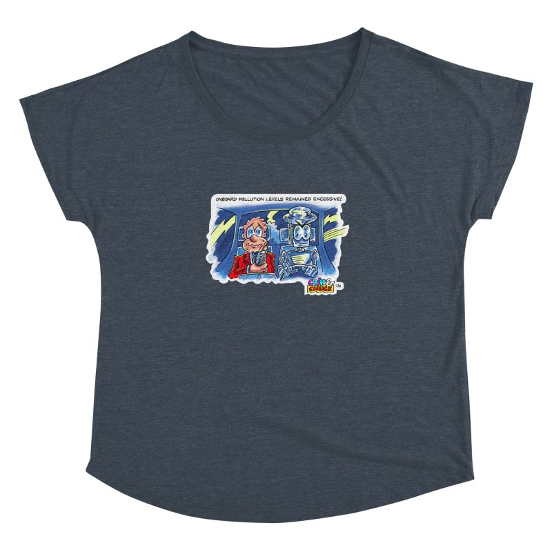 Chip & Chuck pollute Women's Dolman Scoop Neck by thethinkforward's Artist Shop