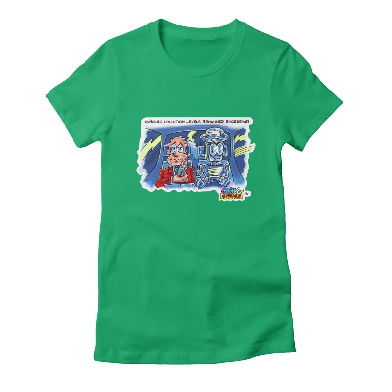 Chip & Chuck pollute Women's Fitted T-Shirt by thethinkforward's Artist Shop