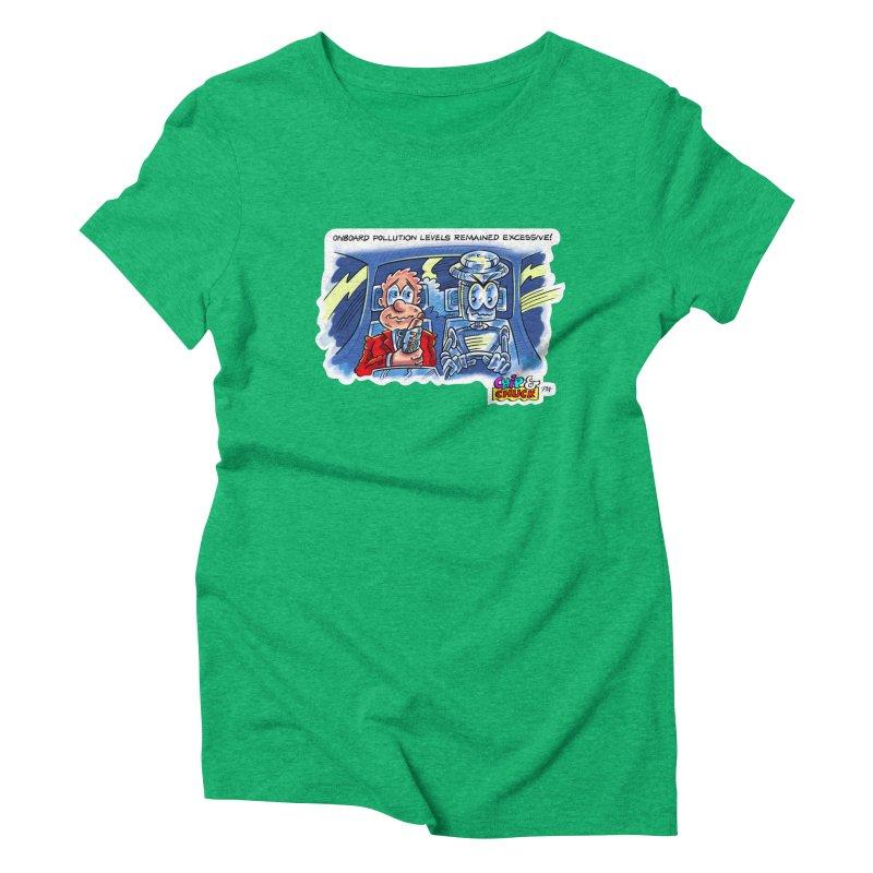 Chip & Chuck pollute Women's Triblend T-Shirt by thethinkforward's Artist Shop