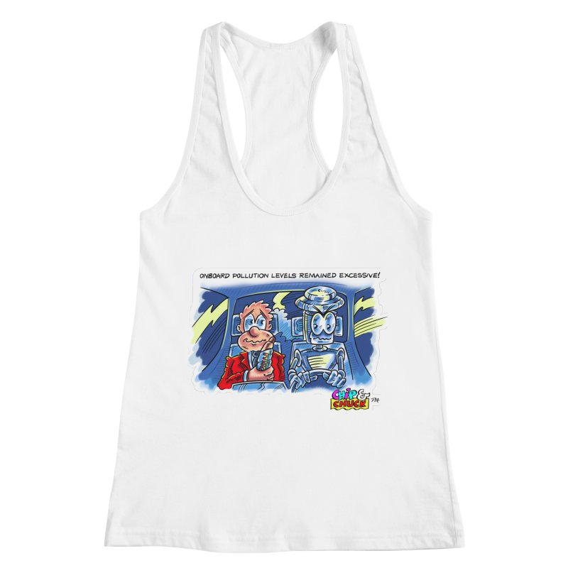 Chip & Chuck pollute Women's Racerback Tank by thethinkforward's Artist Shop