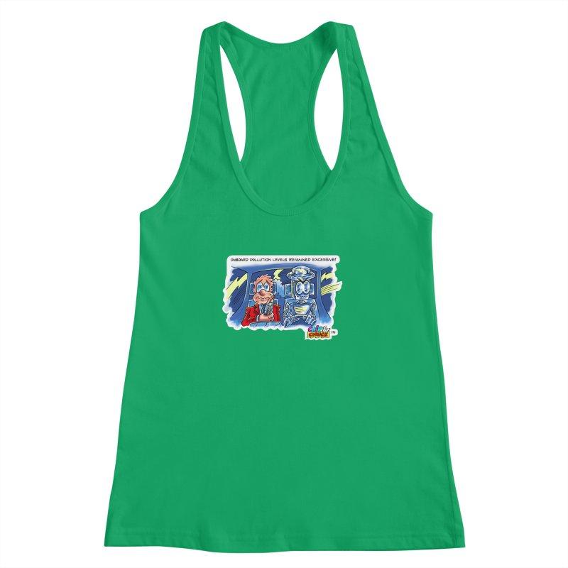 Chip & Chuck pollute Women's Racerback Tank by thethinkforward's Artist Shop