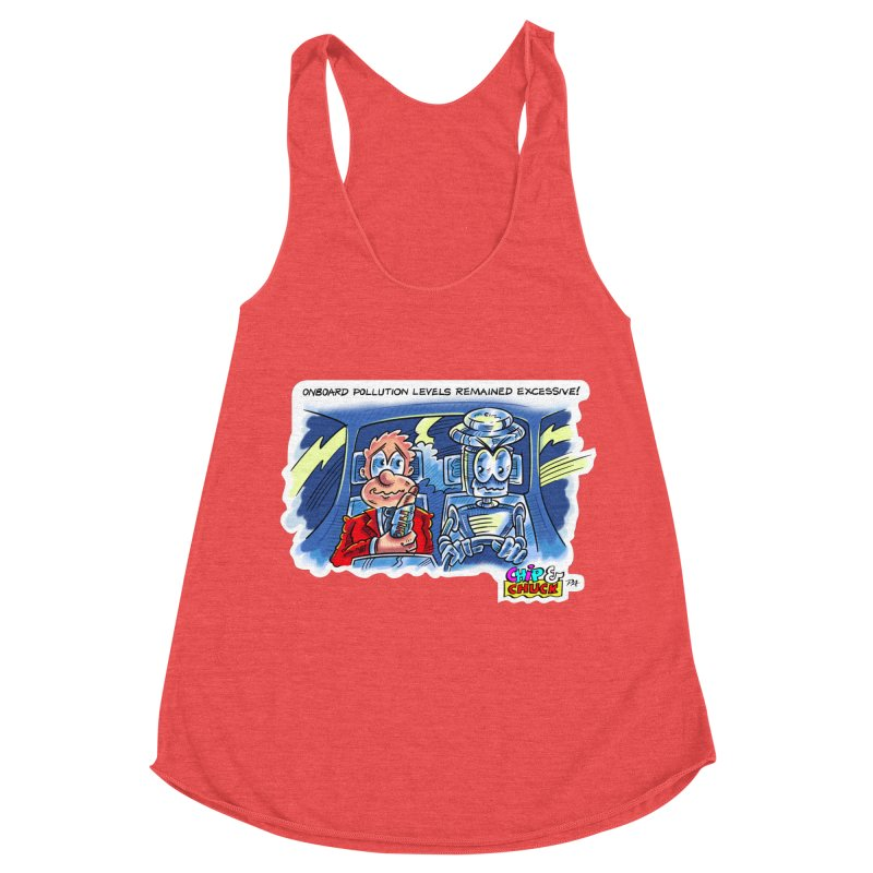 Chip & Chuck pollute Women's Racerback Triblend Tank by thethinkforward's Artist Shop