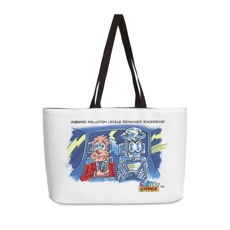 Chip & Chuck pollute Accessories Weekender Bag Bag by thethinkforward's Artist Shop